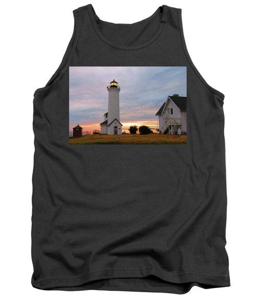 Tibbetts Point Lighthouse, July Sunset Tank Top