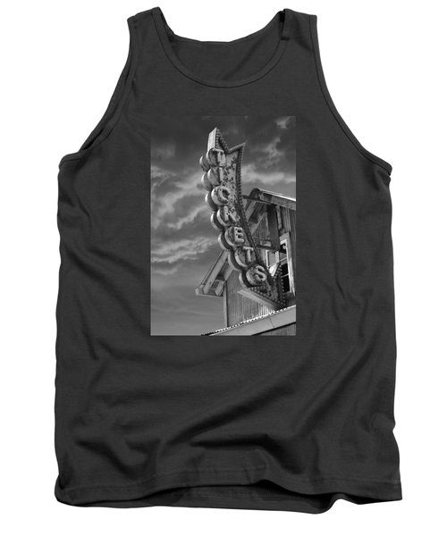 Tank Top featuring the photograph Tickets Bw by Laura Fasulo