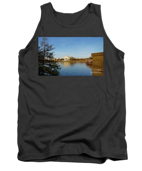 Tidal Basin And Jefferson Memorial Tank Top by Megan Cohen