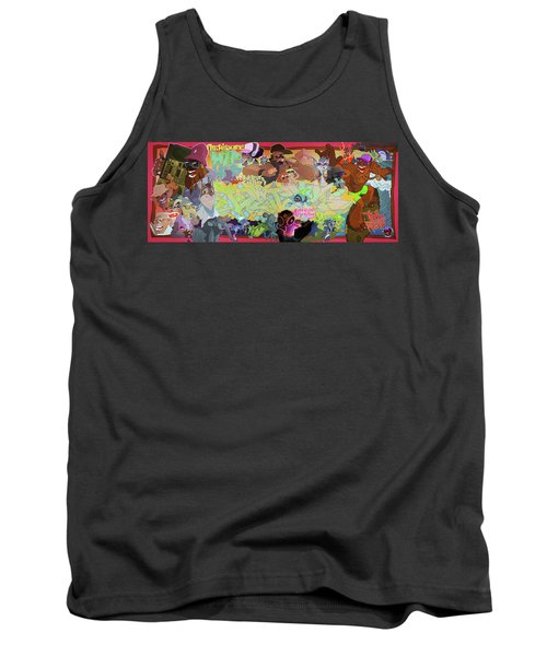 Tank Top featuring the digital art Tidal Recall 2 by Nelson  Dedos Garcia
