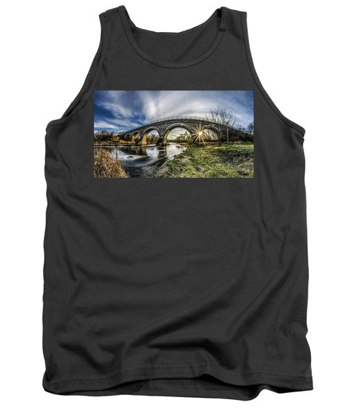 Tiffany Bridge Panorama Tank Top by Randy Scherkenbach