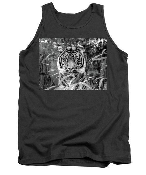 Tiger B/w Tank Top