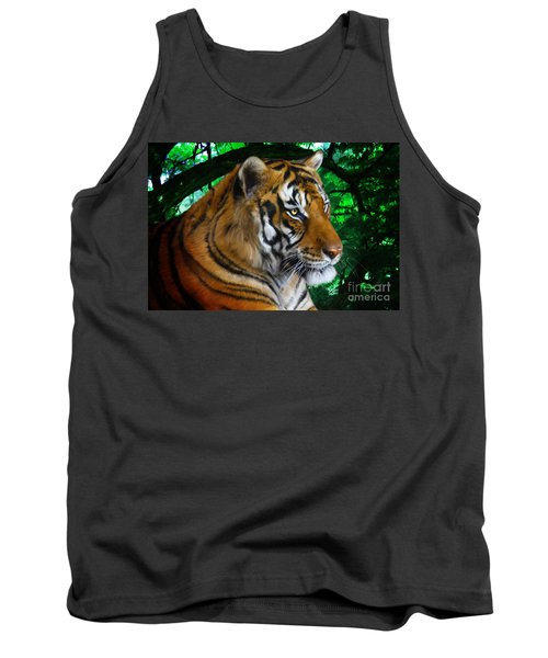 Tiger Contemplation Tank Top