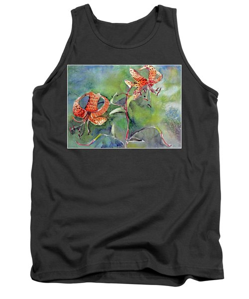 Tiger Lilies Tank Top by Mindy Newman