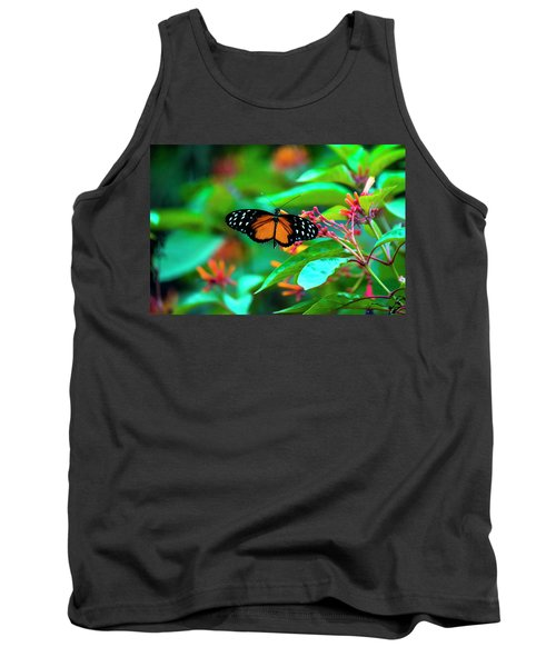 Tiger Longwing Butterfly Tank Top