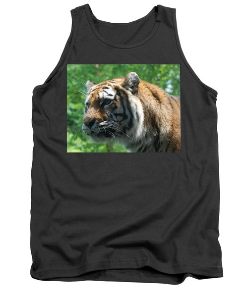 Tank Top featuring the photograph Tiger Profile by Richard Bryce and Family