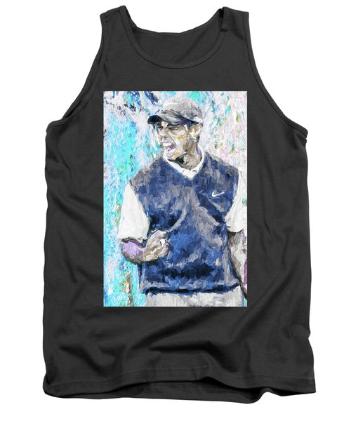 Tank Top featuring the photograph Tiger Says 2 Painting Digital Golf by David Haskett