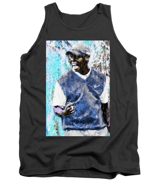 Tank Top featuring the photograph Tiger Says Digital Painting Golf by David Haskett