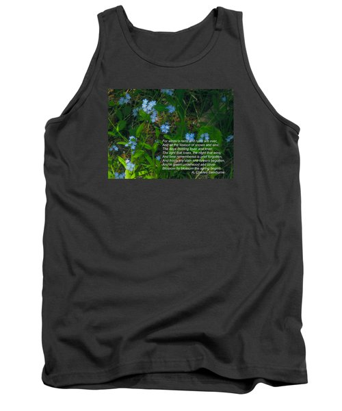 Time Remembered Is Grief Forgotten Tank Top by Deborah Dendler