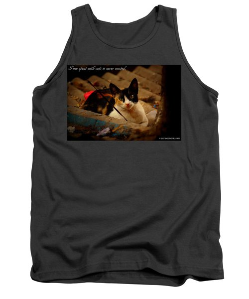 Time Spent With Cats. Tank Top by Salman Ravish