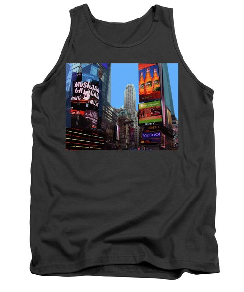 Tank Top featuring the photograph Times Square 2 by Walter Fahmy