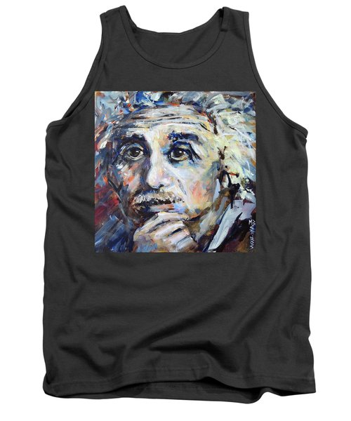 Tank Top featuring the painting Time To Think by Mary Schiros