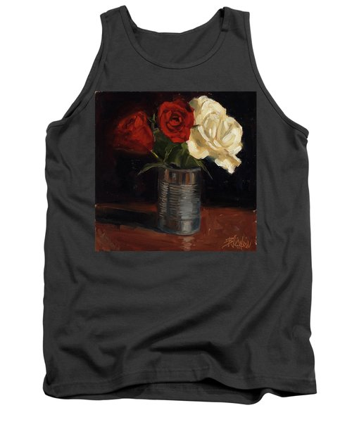 Tank Top featuring the painting Tin Can Love by Billie Colson