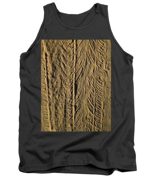 Tank Top featuring the photograph Tire Tracks by R  Allen Swezey