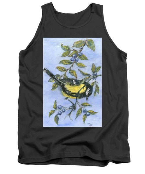 Tit In Blackthorn And Sloe Tank Top