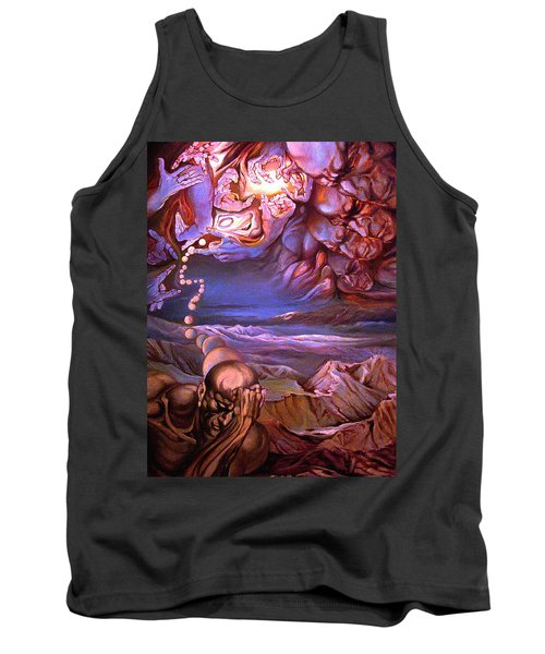 Titan In Desert Or Theft Of Intentions Tank Top by Mikhail Savchenko