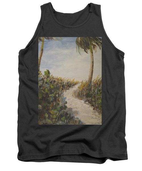 To The Beach Tank Top by Alan Lakin