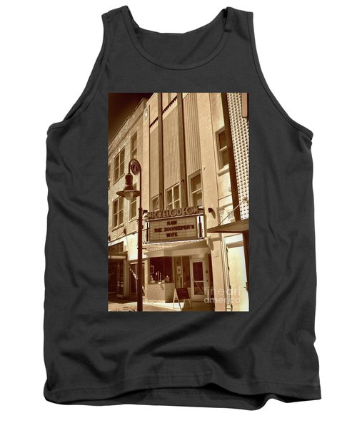 Tank Top featuring the photograph To The Movies by Skip Willits