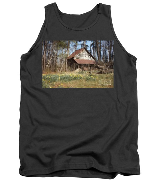 Tank Top featuring the photograph Tobacco Barn In Spring by Benanne Stiens