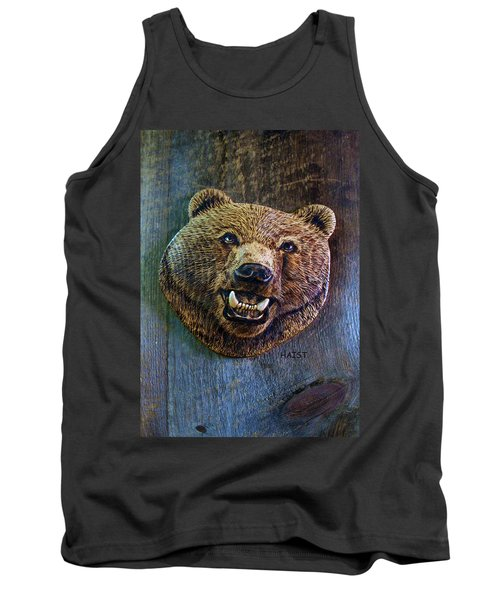 Tank Top featuring the pyrography Together Again by Ron Haist