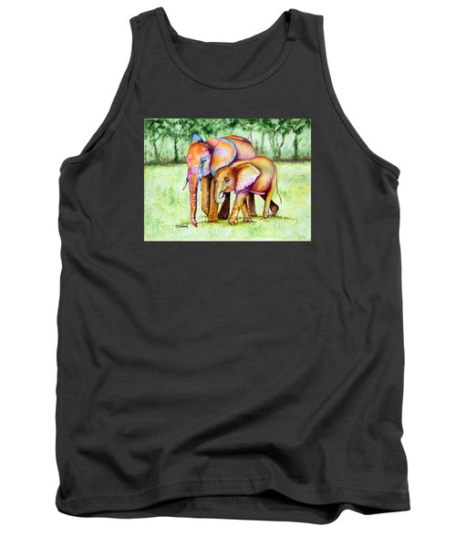 Tank Top featuring the painting Together Forever by Maria Barry