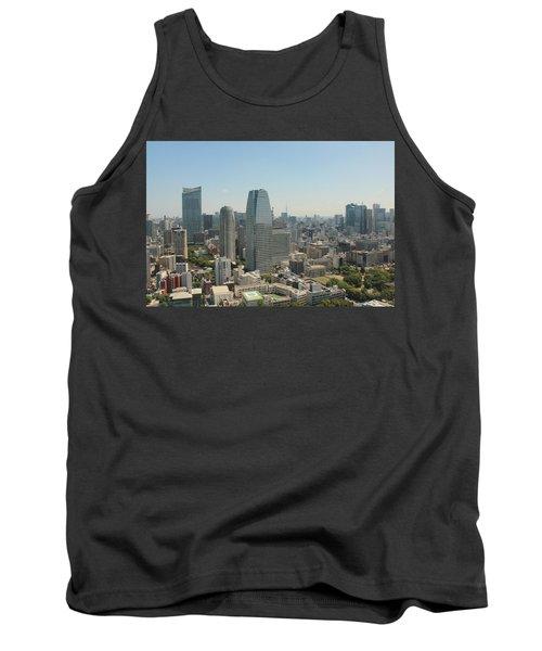Tokyo Skyline Tank Top by Jacob Reyes