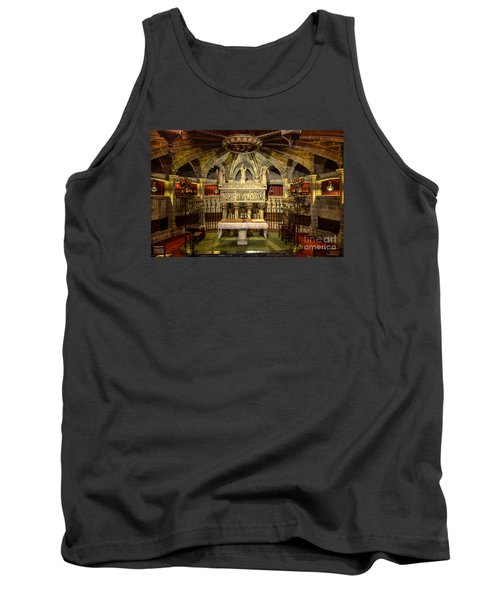 Tomb Of Saint Eulalia In The Crypt Of Barcelona Cathedral Tank Top by RicardMN Photography