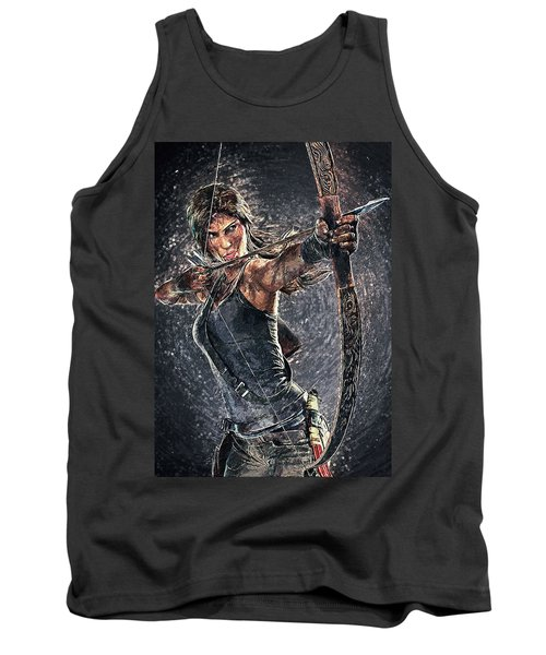 Tomb Raider Tank Top by Taylan Apukovska