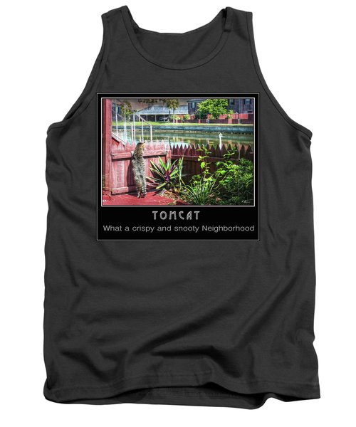 Tank Top featuring the photograph Tomcat Breakfast by Hanny Heim