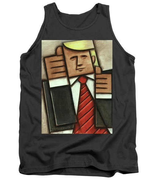 Tommervik Abstract Donald Trump Thumbs Up Painting Tank Top