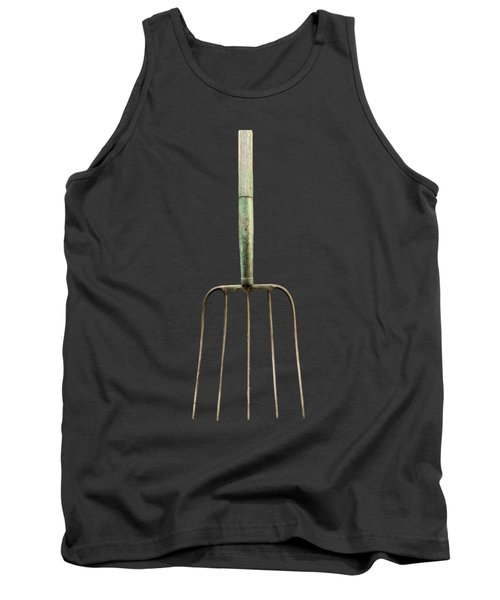 Tools On Wood 7 On Bw Tank Top by YoPedro