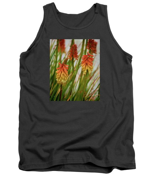 Torch Lily At The Beach Tank Top by Sandi OReilly