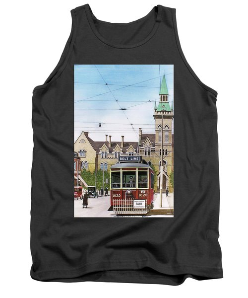 Tank Top featuring the painting Toronto Belt Line by Kenneth M Kirsch