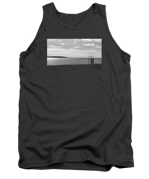 Tank Top featuring the photograph Toronto Winter Beach by Valentino Visentini