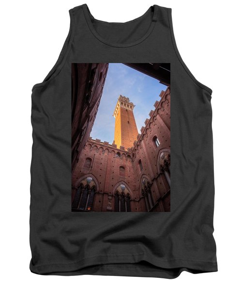 Tank Top featuring the photograph Torre Del Mangia Siena Italy by Joan Carroll