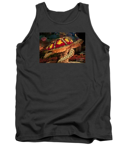 Tortoise With Flowers Tank Top