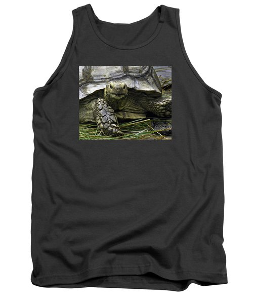Tank Top featuring the photograph Tortoise's Stare by Betty Denise