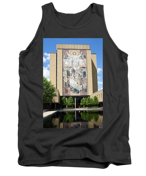 Touchdown Jesus Mural Tank Top by Sally Weigand