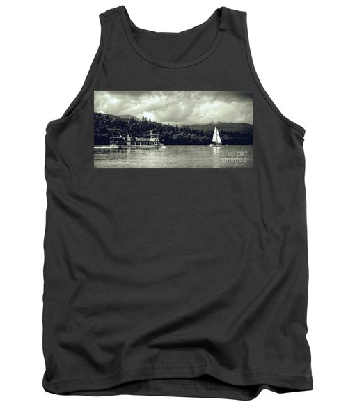Touring The Lakes In Sepia Tank Top