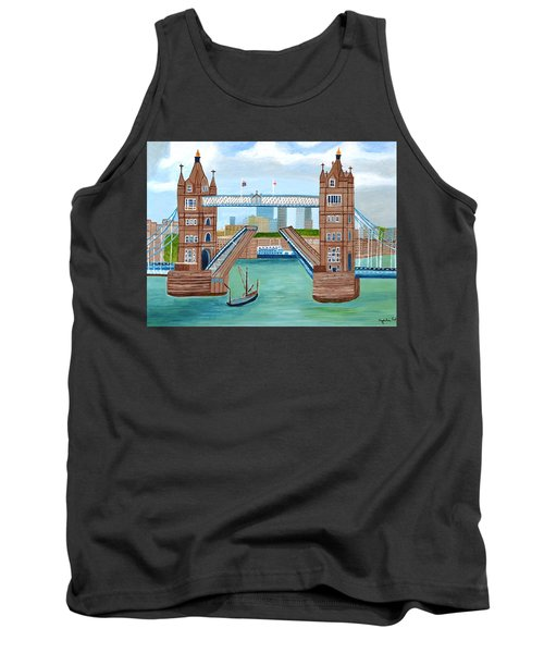 Tank Top featuring the painting Tower Bridge London by Magdalena Frohnsdorff