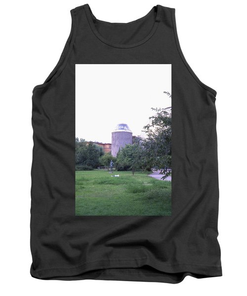 Tower Of The Future, Statue And Lying Woman Tank Top