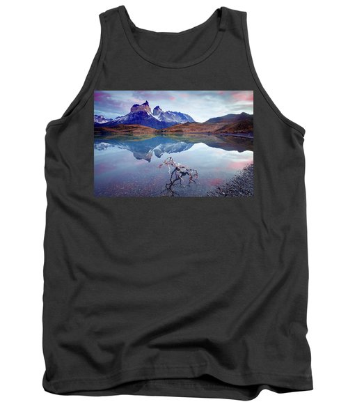 Tank Top featuring the photograph Towers Of The Andes by Phyllis Peterson