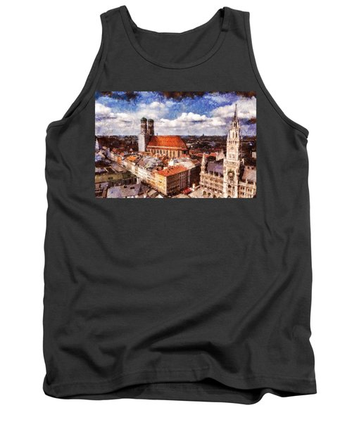 Town Hall. Munich Tank Top by Sergey Simanovsky