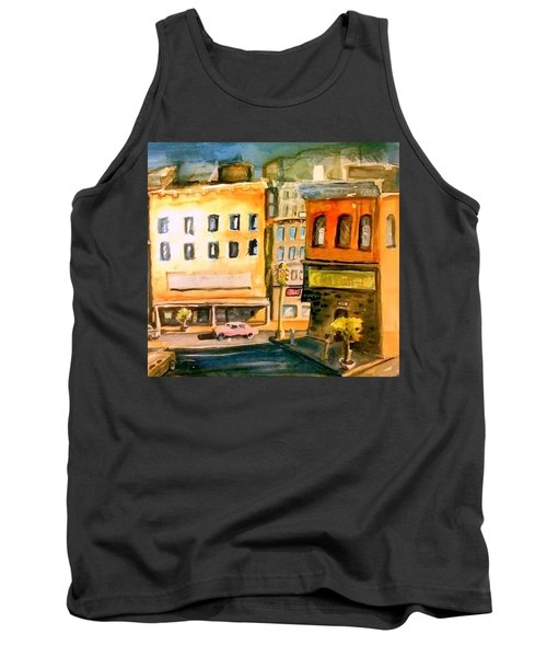 Tank Top featuring the painting Town by Steven Holder
