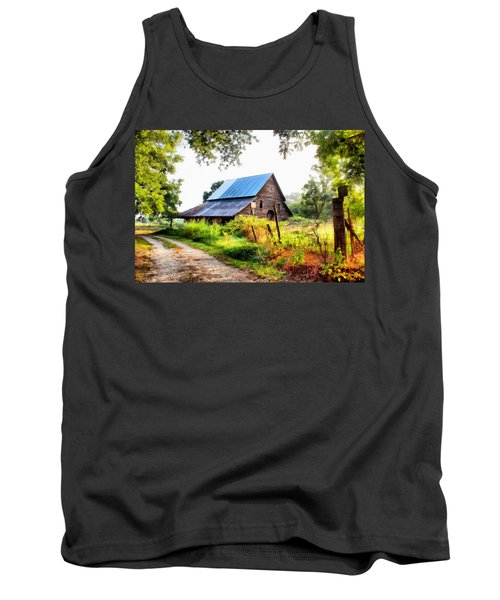 Townville Barn Tank Top by Lynne Jenkins