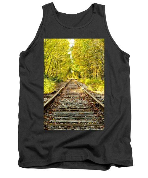 Track To Nowhere Tank Top by Greg Fortier