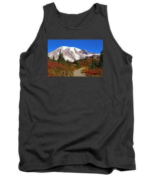 Tank Top featuring the photograph Trail To Myrtle Falls 2 by Lynn Hopwood