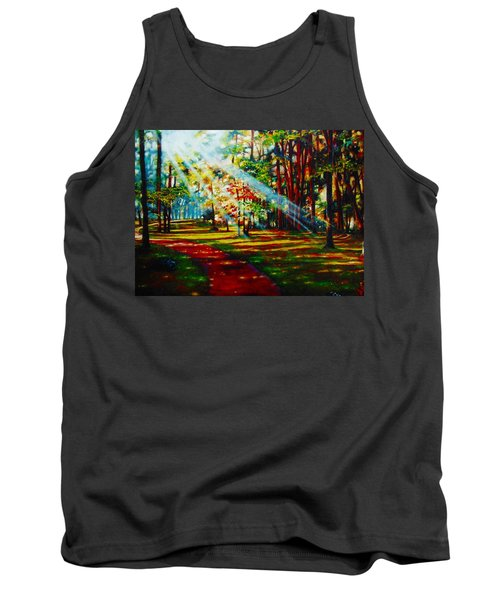 Tank Top featuring the painting Trails Of Light by Emery Franklin