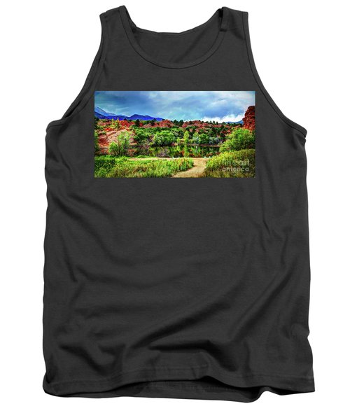 Tank Top featuring the photograph Trails Of Red Rock Canyon by Deborah Klubertanz