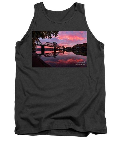 Train Bridge At Sunrise  Tank Top